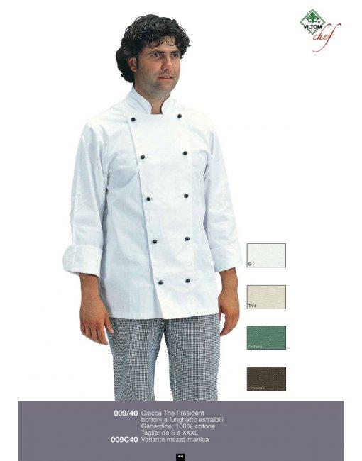 Prodotti   Abbigliamento da lavoro Protettivo Multisettore   ABBIGLIAMENTO  RISTORAZIONE E ALIMENTARISTI   CUCINA CHEF   GIACCA CUOCO THE PRESIDENT ... ae11f521687e